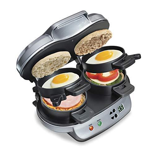 Hamilton Beach Dual Breakfast Sandwich Maker with Timer,...