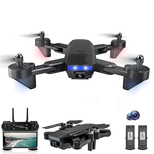 JJDSN Mini Drone con Telecamera UHD 4K, Raggio di Controllo di 1000 m, Tempo di Volo WiFi FPV di 22 Minuti Droni Quadricottero con Motore Senza spazzole 2 batterie