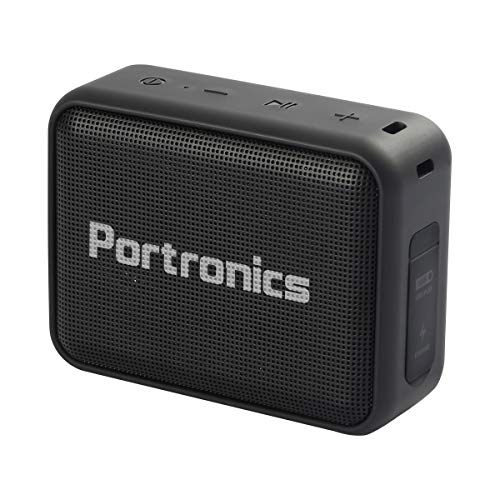 Portronics Dynamo POR-394 5W Bluetooth 5.0 Portable Stereo Speaker with TWS, USB Music & FM Music and Clear Bass Sound, 2000mAh Battery (Black)