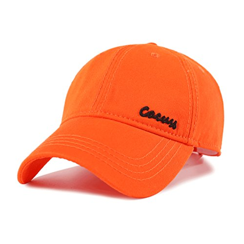 CACUSS-Mens-Cotton-Classic-Baseball-Cap-with-Adjustable-Buckle-Closure-Dad-Hat