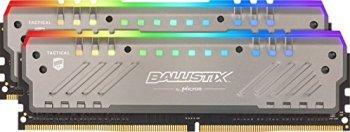 Crucial Ballistix Tactical Tracer BLT2K8G4D30AET4K RGB, 3000 MHz, DDR4, DRAM, Mémoire pour PC de Gamer Kit, 16Go (8Gox2), CL15