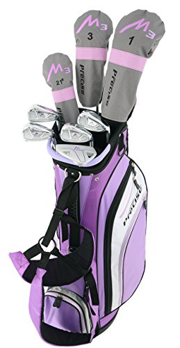 Precise-M3-Ladies-Womens-Complete-Golf-Clubs-Set-Includes-Driver-Fairway-Hybrid-7-PW-Irons-Putter-Stand-Bag-3-HCs-Purple-Regular-Petite-or-Tall-Size