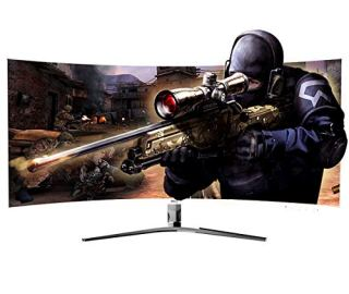 HKC 24'' Curved 1080P LED White Computer VA Panel Gaming Monitor Full HD HDMI VGA