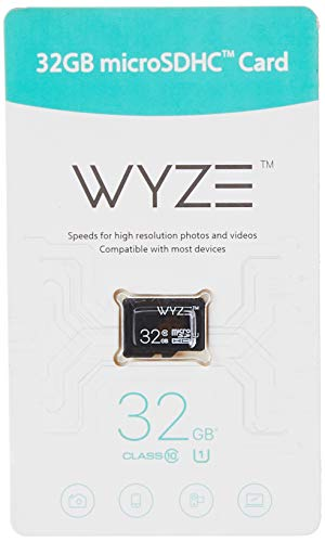 Wyze Labs Expandable Storage 32GB MicroSDHC Card Class 10, Black - WYZEMSD32C10