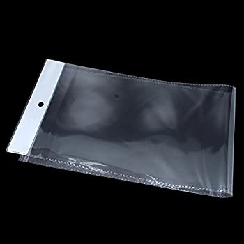 The opp poly bag is easy closed and opened packaging with hang hole and self-adhesive that located at the bottom of each bag for folding and sealing purposes These bags are clear and transparent, can clearly see the products inside 100 Pcs DURABLE MA...
