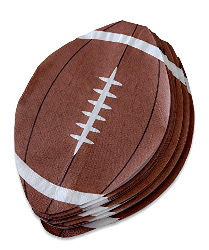 "Football Party Napkins - 100 Pack Disposable Football Shape Paper Napkins 5"" x 7.5"" Perfect for Super Bowl, Tailgating, Sports Theme Birthday Party Decoration"