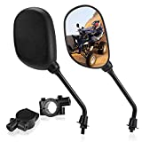Set of ATV Rear View Mirror, ISSYAUTO 360 Degrees Ball-Type Side Rearview Mirror with 7/8' Handlebar Mount Compatible with Motocycle Scooter Moped Polaris Sportsman Honda ATV Dirt Bike Cruiser Chopper