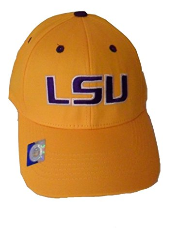LSU-Tigers-Adult-Logo-Structured-Cap-Choose-Your-Team-Color-Yellow