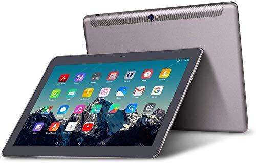 Tablet 10 Pollici - TOSCIDO Android 10.0,Quad core,4G LTE Dual Sim Carta,64 GB Memoria,RAM 4 GB,WiFi/Bluetooth/GPS/OTG,Suono Stereo con Doppio Altoparlante Grigio