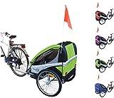 Papilioshop Eagle Remorque poussette de vélo pour le transport de 1ou...
