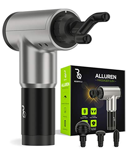Alluren Massager Gun, Deep Tissue Percussion Muscle Massage for Pain Relief, Sore Muscle and Stiffness - Handheld Electric Body Massager - Portable Sports Drill - Super Quiet Brushless Motor