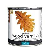 Polyvine 729870003606 Exterior Wood Varnish 1 LITRE, Satin
