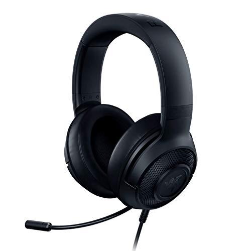 Razer Kraken X Lite Ultraleichtes Gaming-Headset: 7.1 Surround-Sound, Leichter Aluminiumrahmen, biegbares Nierenmikrofon, für PC, PS4, PS5, Switch, Xbox One, Xbox Series X & S, mobil, Schwarz