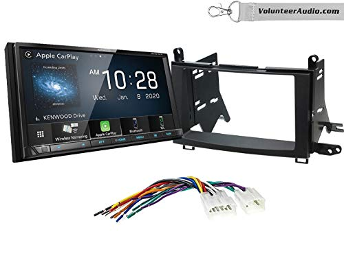 Kenwood DMX9707S Double Din Radio Install Kit With Apple CarPlay, USB/AUX, Built-In 13 Band Equalizer Fits 2009-2015 Non Amplified Toyota Venza