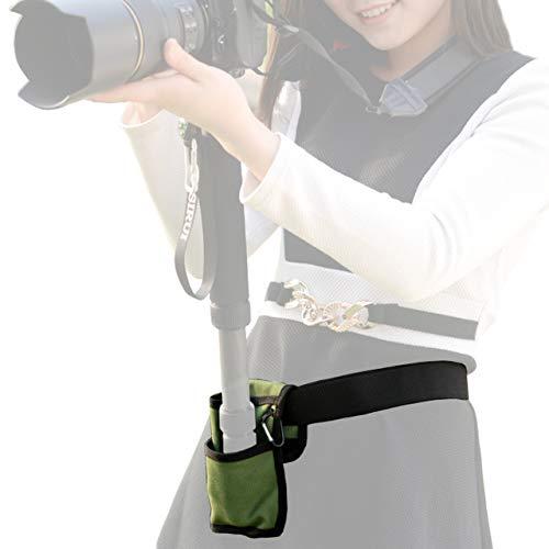 撮影 に超便利 カメラ 一脚 ホルダー 腰ベルト/場所がなくても しっかりカメラを固定/撮影会 運動会 スポーツ フェス 旅行