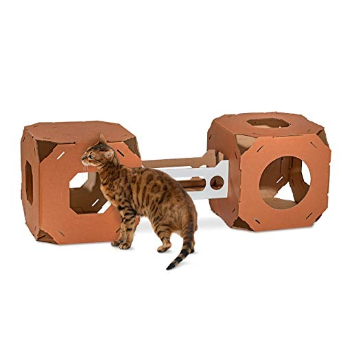 Catty Stacks Modular Cat Condos, Chocolate Brown