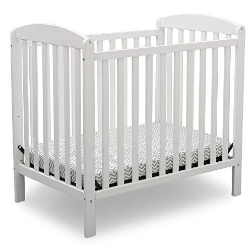 Product Image 1: Delta Children Emery Mini Convertible Baby Crib with 2.75-inch Mattress, Bianca White