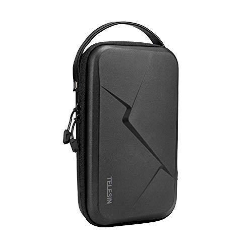 TELESIN Grande custodia per GoPro Hero 8 7 6 5 4 3,DJI Osmo Pocket/Action,Insta360,fotocamera digitale,custodia protettiva da viaggio rigida per selfie stick, cinghia di montaggio e altri accessori