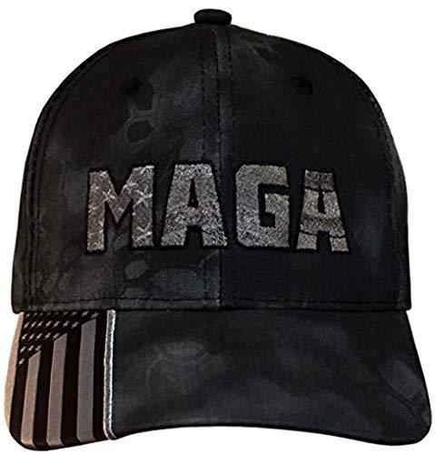 Treefrogg Apparel MAGA Hat – Trump Cap – Grey MAGA – Flag Kryptek Typhon (MAGA USA-Flag Kryptek Typhon/CharcGrey)