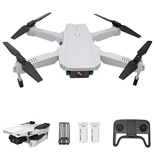 Drone con telecamera 4K HD, posizionamento del flusso ottico con due telecamere, altitudine, modalit senza testa, volo traiettoria, foto gestuale, quadricottero FPV WiFi , per principianti, bianco