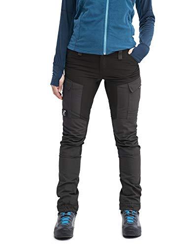 RevolutionRace Damen GPX Pants, Hose zum Wandern und für viele Outdoor-Aktivitäten, Jet Black, 36
