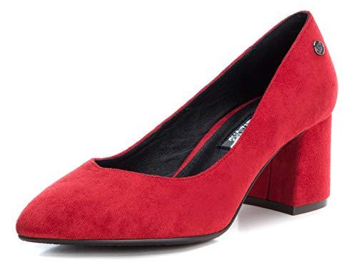 XTI 35109, Zapatos de tacón con Punta Cerrada Mujer, Rojo, 37 EU