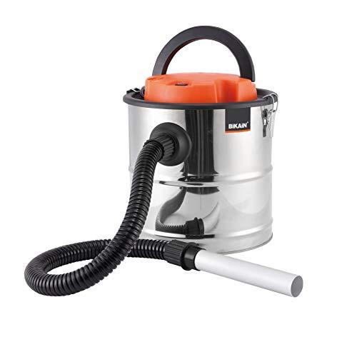 Bikain DI1200INOX–Aspirateur de Cendres, 1200W, 20L, Cuve Inox, Argent
