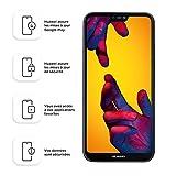 Huawei P20 Lite Smartphone débloqué 4G (5,84 pouces 64 Go/4 Go Double NanoSIM Android) Noir [Version européenne]