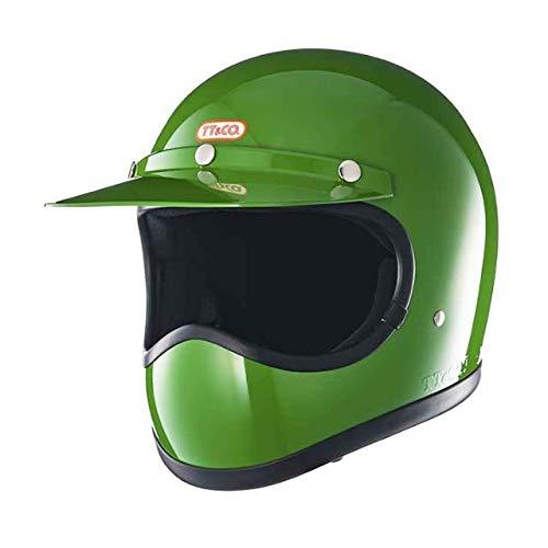 TT&CO. トゥーカッター スタンダード グリーン フルフェイスヘルメット ヴィンテージ フルフェイス ビンテージ ヘルメット SG/PSC/DOT 乗車用ヘルメット おしゃれ ハーレー モトクロス