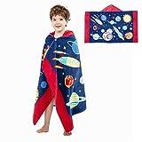 Poncho à Capuche Serviettes de Bain Peignoir de Coton Pour Enfants Serviette de...