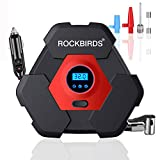 ROCKBIRDS Portable Air Compressor for Car Tires, 12V DC Auto Tire Pump with LED Light 150PSI for Car Tires,Basketball,Bicycle,Motorcycle,Balls