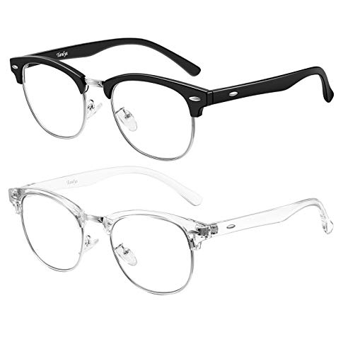 Tanlys 2 Pack Blue Light Blocking Glasses for Computer Eye Strain...
