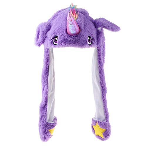 Homyl boné de pelúcia engraçado chapéu mover orelhas orelhas cavalo animal chapéu foto adereços acessórios