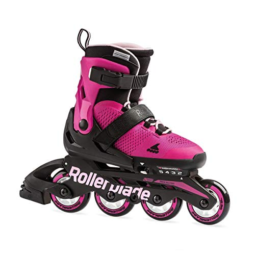 Rollerblade Microblade G, Pattini Bambina, Rosa/Bubblegum, 33-36,5