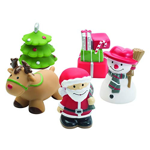 Best Selling Christmas Elegant Baby Rubber Bath Water Squirties, Santa Bath Toys