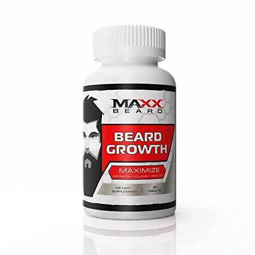 MAXX Beard - Integratore per la crescita dei peli facciali, massimizza la crescita e il volume della barba, stimola e dà sostegno (lingua italiana non garantita)