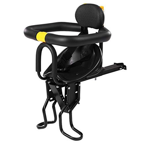 Seciie Seggiolino Anteriore per Bambini da Bicicletta, Sella per Bambini con Recinzione e Schienale, per Bici da Corsa MTB, Morbida Seduta Max 30 kg