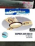Crompton Super Air Deco 1200 mm (48 inch) High Speed Decorative Ceiling Fan (Birken Ivory)