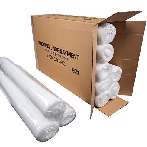 Standard Flooring Underlayment -Bestlaminate - 2mm - White - Bundle: 1000 sq.ft (10 Rolls x 100 sq.ft Each)