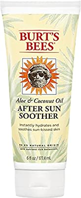 BURT'S BEES AFTER SUN LOTION: Burt's Bees aloe and coconut oil after sun soother is a non-greasy and fast absorbing lotion; Package may vary NATURAL LOTION: Let Burt's Bees aloe and coconut oil after sun lotion soothe skin with a naturally moisturizi...