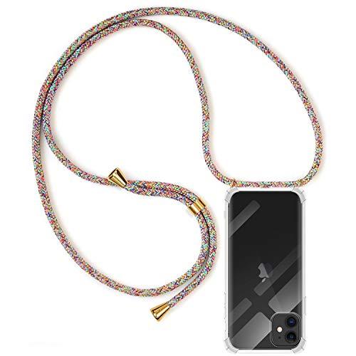 MICASE Funda con Cuerda para iPhone 11, Carcasa Transparente TPU...