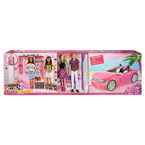Mattel CNC16 - Mega Pack Dress Up 2016 ( 1 Barbie / 1 Ken / 1 Auto Glam / 1 Armadio Da Sogno )...