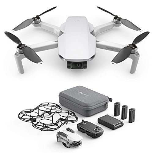 DJI Mavic Mini Combo - Drone Ultra-Léger et Ultra-Transportable, Autonomie de 30 minutes, distance de Transmission de 2 km, cardan 3 Axes, 12 MP, Vidéo HD 2.7K (EU Plug)