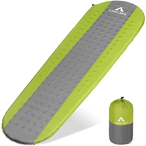 Camping Sleeping Pad - Self Inflating Mats - Lightweight, Thick Foam Layer, Insulated - Inflatable Pads Will Not Leak Air - Backpacking, Hiking