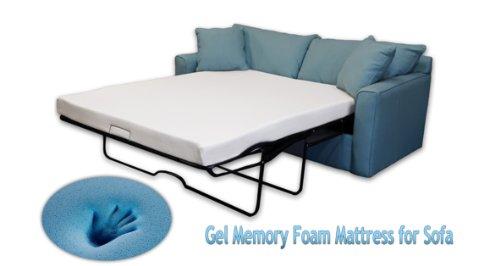 DynastyMattress 4.5-Inch Gel Memory Foam Sofa Mattress, Folding Mattress (Full)