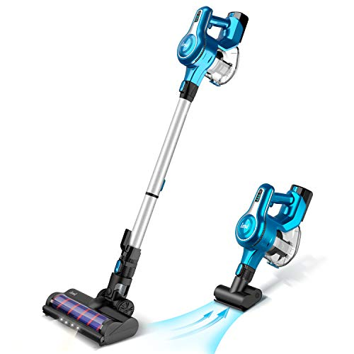 INSE Cordless Stick Vacuum Cleaner, 23KPa Powerful Suction with 250W Motor, Stick Handheld Vacuum Lightweight Quiet Rechargeable 2500mAh for Bed Car Pet Hair Hardwood Floor Carpet - S6