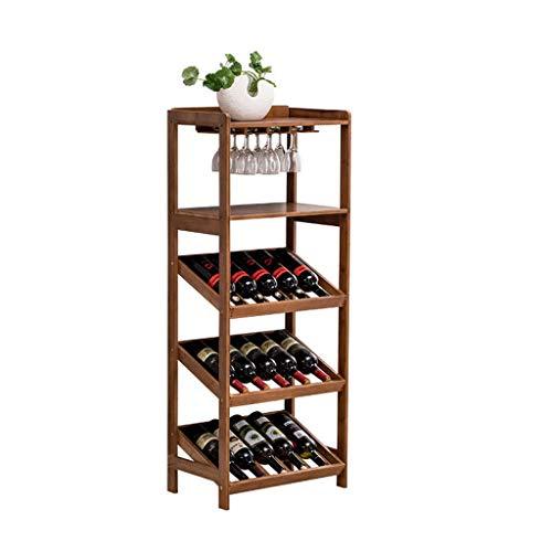 Porta bottiglie da vino Armadietto del vino Holder stand bagagli mensole di grande capacit di...