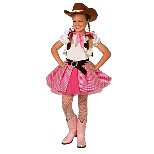 Kids Cowgirl Costume Cute Girls Pink Western Rodeo Dress Up – Small
