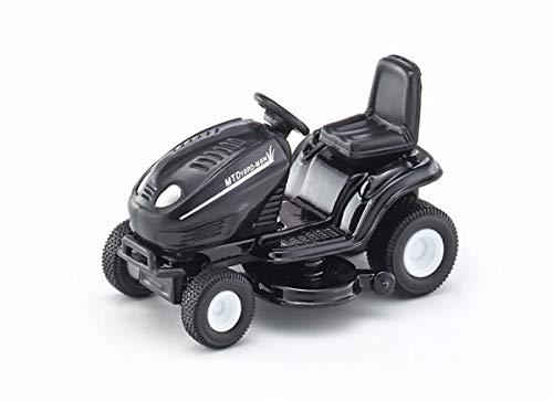 SIKU 1312, Tondeuse à Gazon Autoportée, Echelle: 1:32, Métal/Plastique, Noir, Voiture jouet pour enfants