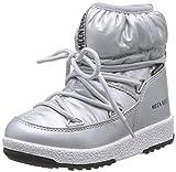Moon-boot Jr Girl Low Nylon WP, Bottes de Neige Fille, Argenté (Argento 002),...